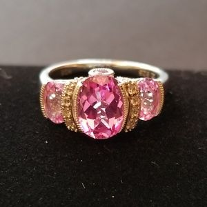Jewelry - Sterling Silver Pink Saphire Ring